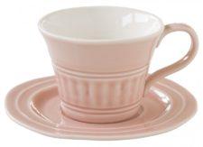 Чашка с блюдцем (розовый) Abitare без инд.упаковки