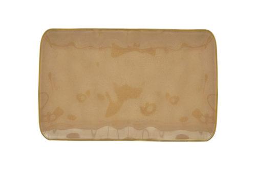 Тарелка прямоугольная (коричневый) Interiors без инд.упаковки