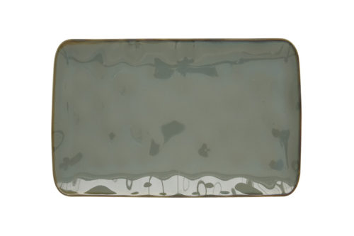 Тарелка прямоугольная (серый) Interiors без инд.упаковки