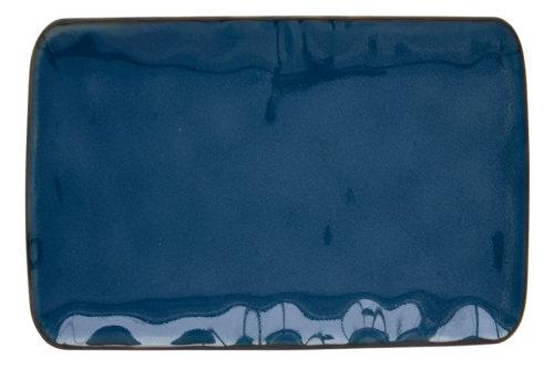 Тарелка прямоугольная большая (синий) Interiors без инд.упаковки