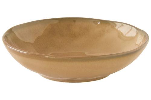 Тарелка суповая (коричневый) Interiors без инд.упаковки