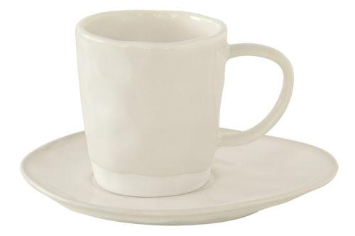 Чашка с блюдцем (белый) Interiors без инд.упаковки