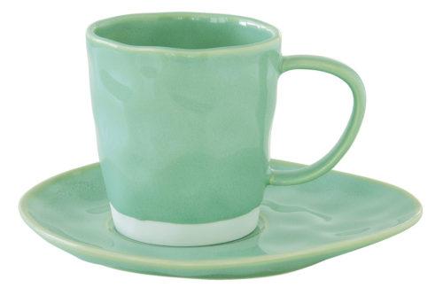 Чашка с блюдцем (мятный) Interiors без инд.упаковки