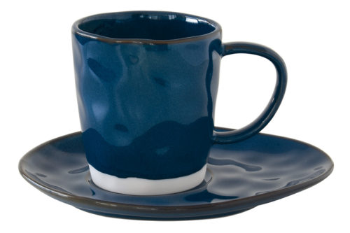 Чашка с блюдцем (синий) Interiors без инд.упаковки