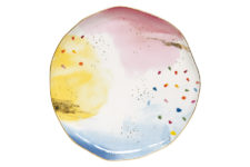 Тарелка обеденная Брызги красок без инд.упаковки