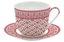 Чашка с блюдцем (красный) Муссон в подарочной упаковке