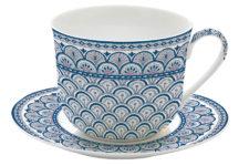 Чашка с блюдцем (синий) Муссон в подарочной упаковке
