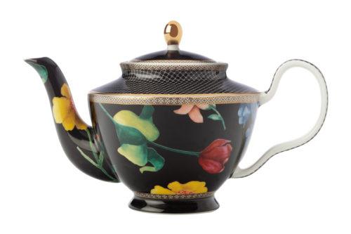 Чайник с ситечком (чёрный) Contessa в подарочной упаковке