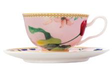 Чашка с блюдцем (розовый) Contessa в подарочной упаковке