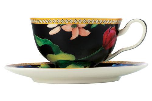 Чашка с блюдцем (чёрный) Contessa в подарочной упаковке