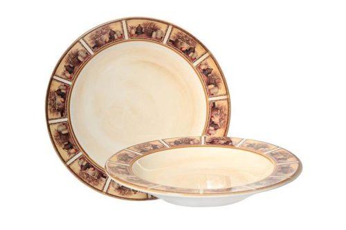 Набор тарелок:суповая и обеденная Натюрморт