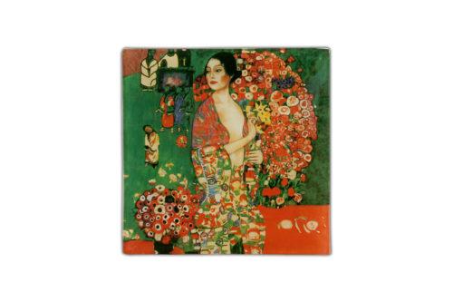 Тарелка квадратная Танцовщица  ( Г. Климт)