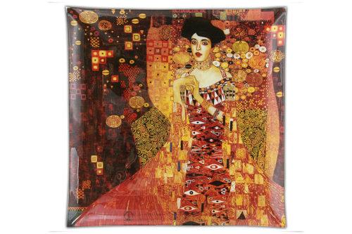 Тарелка квадратная Золотая Адель (Г.Климт)