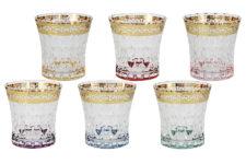 Набор: 6 стаканов для виски Цветная Флоренция