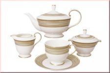 Чайный сервиз Наруми Золотой вихрь 15 предметов на 6 персон