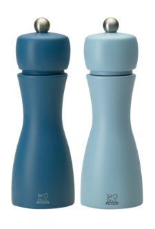 Набор мельниц Tahiti Peugeot для соли и перца, 15 см, голубой+синий