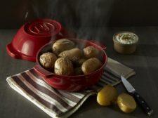 Форма для запекания картофеля, 2 литра, 24 см (цвет: гранат)