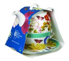 "Набор: чайник 400 мл,чашка 200 мл с блюдцем Churchill ""Цветы"" (КСО)"