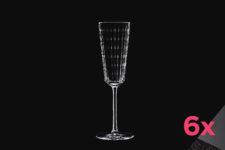 Набор из 6-ти бокалов для шампанского 170мл IROKO Cristal d'Arques