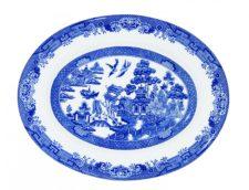 Блюдо овальное Churchill 31 см Голубая ива
