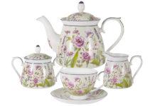 Чайный сервиз из 15 предметов на 6 персон Душистый луг в подарочной упаковке