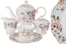 Чайный сервиз Весенний сад 21 предмет на 6 персон в подарочной упаковке