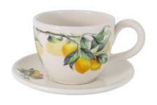 Чашка с блюдцем Лимоны без инд.упаковки 0,4л