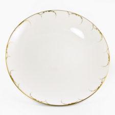 """Блюдо круглое 32СМ """"Белый с золотом"""" Наруми"""