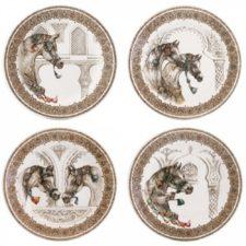 Набор тарелок десертных Gien, Лошади ветра, 4 шт., 22 см