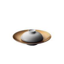Глубокая тарелка и миска чёрные BergHOFF