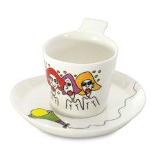 Набор 2шт чашек для кофе с блюдцем 0,18л Eclipse ornament BergHOFF