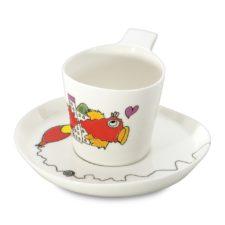 Набор 2шт чашек для чая с блюдцем 0,24л Eclipse ornament BergHOFF