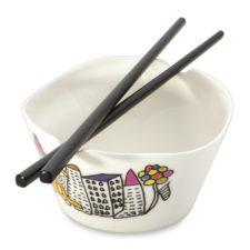 Набор 2пр мисочек для риса с палочками 11см 0,3л Eclipse ornament BergHOFF