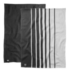 2пр набор чайных полотенец 50*70см Gem (чёрное-белые) BergHOFF