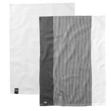 2пр набор чайных полотенец 50*70см Gem (серо-белые) BergHOFF