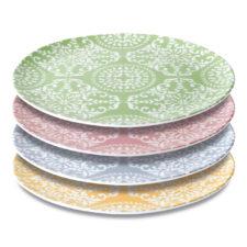 4пр набор фарфоровых декоррированных тарелок 30см BergHOFF