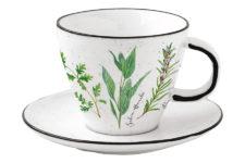 Чашка с блюдцем Herbarium в подарочной упаковке 0,25