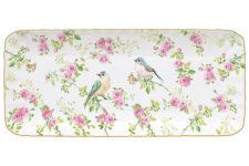 Блюдо прямоугольное Птицы в саду в подарочной упаковке