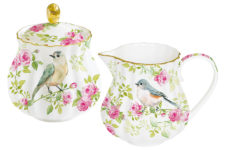Набор: сахарница + молочник Птицы в саду в подарочной упаковке