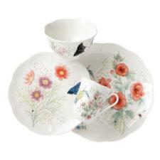 """Сервиз чайно-столовый Lenox """"Бабочки на лугу. Птицы. Колибри"""" 16 предметов на 4 персоны"""