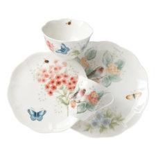 """Сервиз чайно-столовый Lenox """"Бабочки на лугу. Птицы. Зяблик"""" 16 предметов на 4 персоны"""