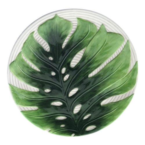 """Блюдо сервировочное 3D Certified Int.  """"Пальмовые листья"""" 33см, (рельеф)"""