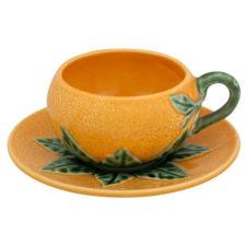 """Чашка кофейная с блюдцем Bordallo Pinheiro """"Апельсин"""" 100мл"""