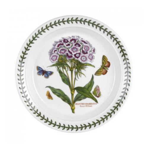 """Тарелка закусочная Portmeirion """"Ботанический сад.Гвоздика турецкая"""" 20см"""