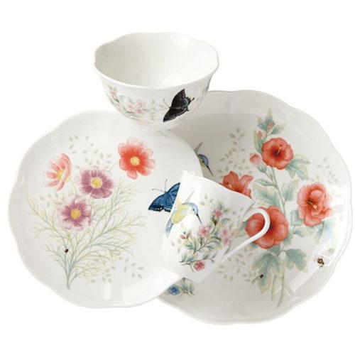 "Сервиз чайно-столовый Lenox ""Бабочки на лугу.Птицы.Колибри"" 1/4"