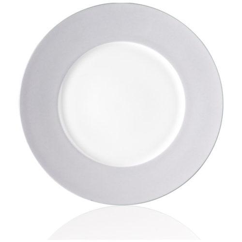 """Тарелка обеденная Noritake """"Альта"""" 28см (сиреневый борт)"""