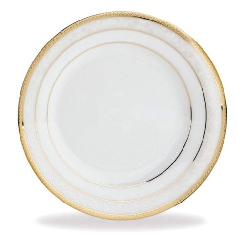 "Тарелка десертная Noritake ""Хэмпшир,золотой кант"" 17см"