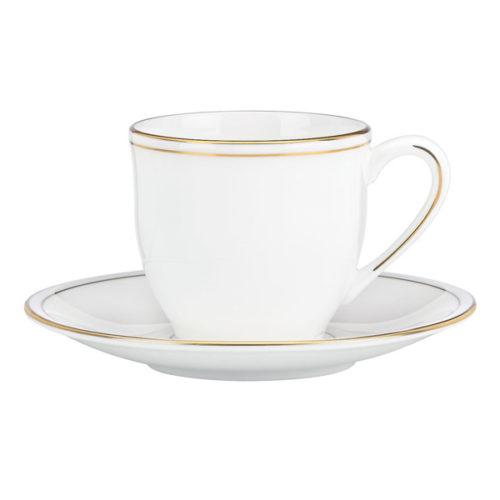 """Чашка для эспрессо с блюдцем Lenox """"Федеральный,золотой кант"""" 90мл"""