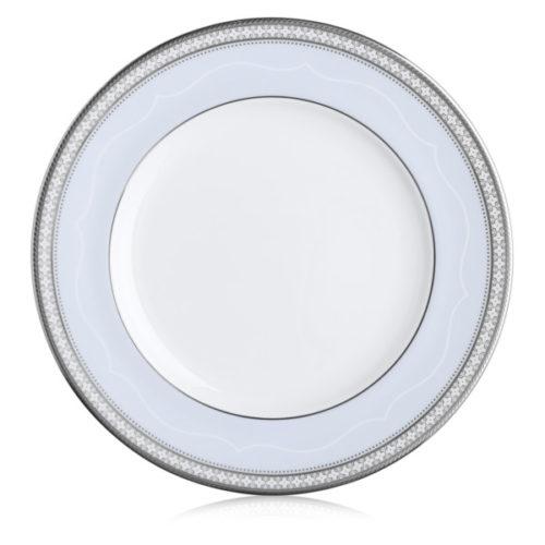 "Тарелка закусочная Noritake ""Трефолио,платиновый кант"" 25см"