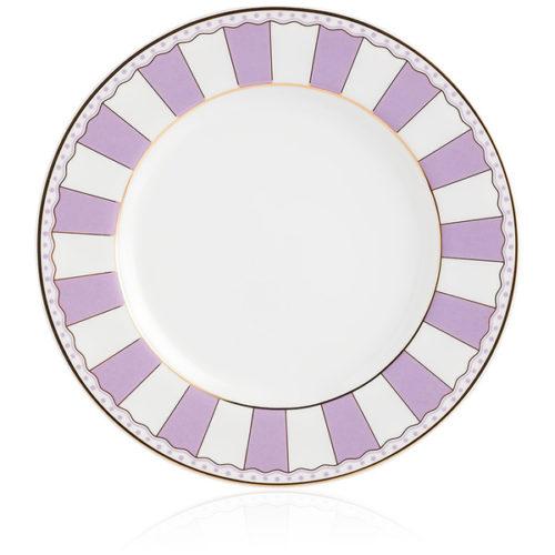 """Набор тарелок десертных Noritake """"Карнавал"""" 21см (лавандовая полоска), 2шт, п/к"""